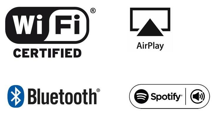 Wifi, Airplay, Bluetooth