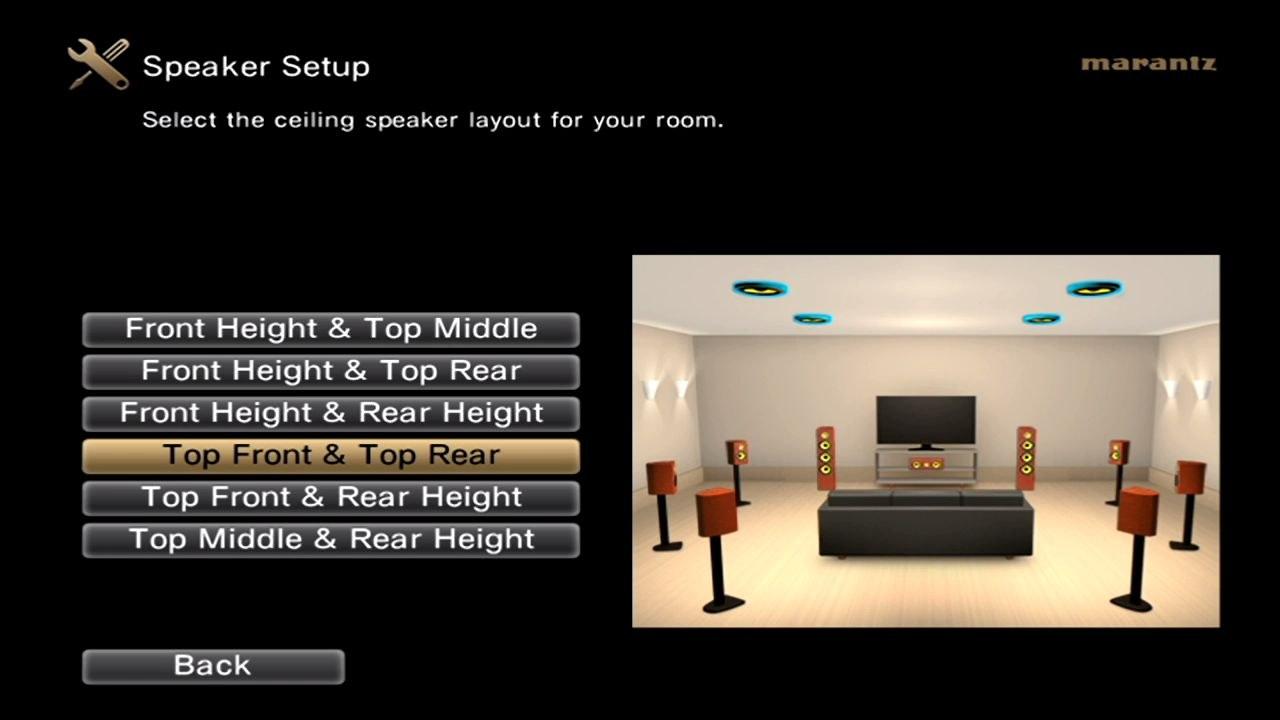 Easy setup on-screen display