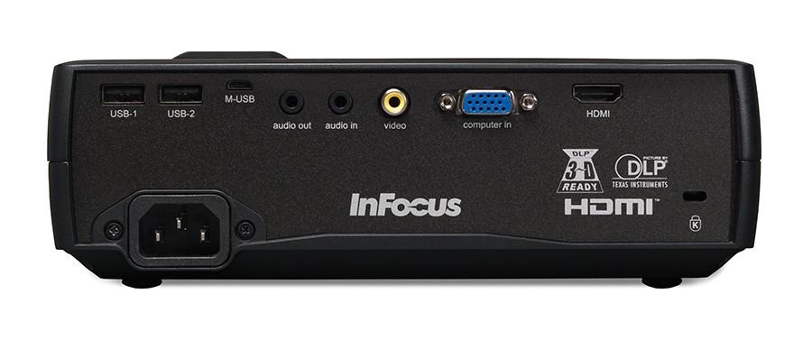 InFocus IN1116 back panel inputs